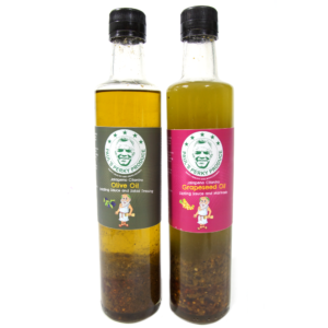Jalapeno Cilantro Olive Oil and Grapeseed Oil (2 Bottles, 16.9 oz/500 ml ea.)